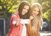 foto of selfie  - Friends making selfie - JPG