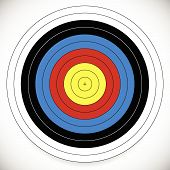 foto of archery  - Eps 10 Vector Illustration of Printable Archery Arrow Target with Cross at Center - JPG