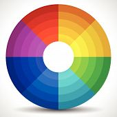 picture of dtp  - Eps 10 Vector Illustration of a Circular Color Wheel  - JPG