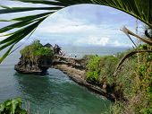 foto of tanah  - scenery tanah lot temple in tabanan bali - JPG