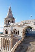 stock photo of fishermen  - Fisherman Bastion on the Buda Castle hill in Budapest Hungary - JPG