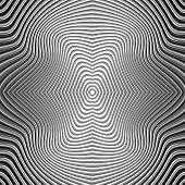 image of distort  - Design monochrome movement illusion background - JPG