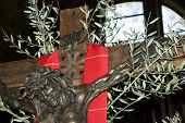 picture of crucifix  - Jesus crucifix on cross on palm sunday - JPG