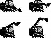 pic of skid-steer  - Detailed illustration of skid steer loaders - JPG