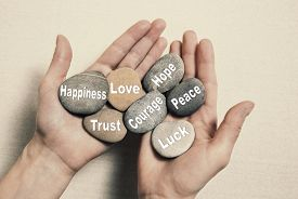 stock photo of stone-therapy  - Inner balance concept - JPG