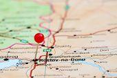 pic of na  - Photo of pinned Rostov na Donu on a map of europe - JPG
