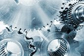 picture of titanium  - cogwheels and gears - JPG