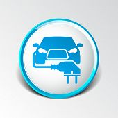 stock photo of fuel economy  - Electric car plug icon eco fuel vector - JPG
