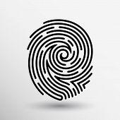 picture of fingerprint  - Fingerprint icon finger print vector id theft macro stamp - JPG