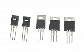picture of transistors  - the power transistors on a white background - JPG