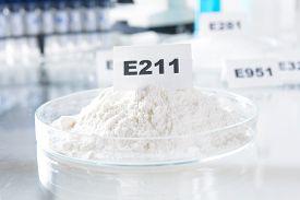 stock photo of decomposition  - E211 Sodium benzoate - JPG