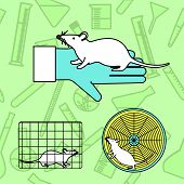 Mouse In Lab Experiments poster