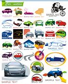 COLLECTION_7 Exclusive Series of Auto, Motors and Car Icon Set for design, vector illustration. Glos