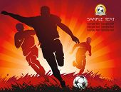 Soccer Action Player on beautiful Abstract Background. Original Vector illustration sports series. C