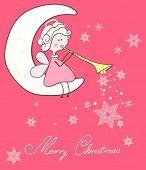image of angel-trumpet  - angel playing trumpet - JPG