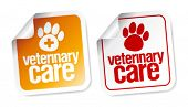 pic of veterinary clinic  - Veterinary care stickers set - JPG