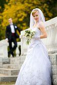 Постер, плакат: Красочные Свадебные выстрела невесты и жениха
