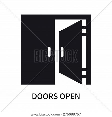 Doors Open Icon Isolated On