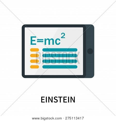 Einstein Icon Isolated On White