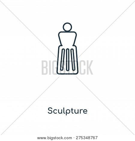 Sculpture Icon In Trendy Design
