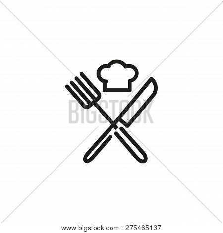 Poster: Chef Hat With Crossed Knife