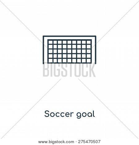 Soccer Goal Icon In Trendy