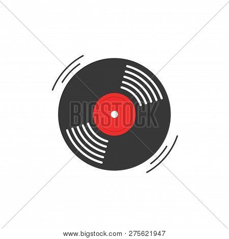 Vinyl Record Vector Icon Gramophone