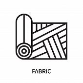Fabric Icon Isolated On White Background. Fabric Icon Simple Sign. Fabric Icon Trendy And Modern Sym poster