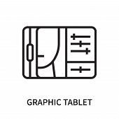 Graphic Tablet Icon Isolated On White Background. Graphic Tablet Icon Simple Sign. Graphic Tablet Ic poster