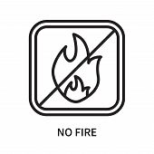 No Fire Icon Isolated On White Background. No Fire Icon Simple Sign. No Fire Icon Trendy And Modern  poster