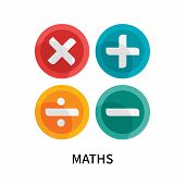 Maths Icon Isolated On White Background. Maths Icon Simple Sign. Maths Icon Trendy And Modern Symbol poster
