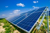 Solar Energy Panels. Photovoltaic Power Supply Systems. Solar Power Plant. The Source Of Ecological  poster