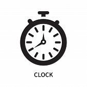 Clock Icon Isolated On White Background. Clock Icon Simple Sign. Clock Icon Trendy And Modern Symbol poster