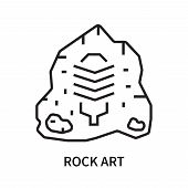 Rock Art Icon Isolated On White Background. Rock Art Icon Simple Sign. Rock Art Icon Trendy And Mode poster