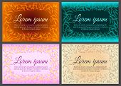 Set Of Frame Of Flower Petals With Place For Text. Bright, Colorful Design Is Suitable For Decoratio poster