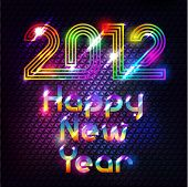 Colorful Shiny 2012 Happy New Year Background