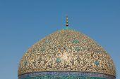 Постер, плакат: Купол мечети шейха Lotf Аллах Исфахан Иран