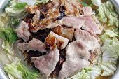 Thai Barbecue Grill Pork On Hot Pan Buffet, Moo-gata Pork Pan Its Traditional Thai Style Bbq, Barbe poster