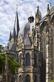 exterior of Aachen Imperial cathedral