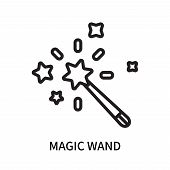 Magic Wand Icon Isolated On White Background. Magic Wand Icon Simple Sign. Magic Wand Icon Trendy An poster