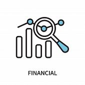 Financial Icon Isolated On White Background. Financial Icon Simple Sign. Financial Icon Trendy And M poster