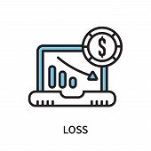 Loss Icon Isolated On White Background. Loss Icon Simple Sign. Loss Icon Trendy And Modern Symbol Fo poster