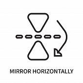 Mirror Horizontally Icon Isolated On White Background. Mirror Horizontally Icon Simple Sign. Mirror  poster