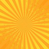 Retro Comic Background. Striped Rays Background For Comics Book. Vector Illustrations. poster