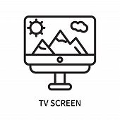 Tv Screen Icon Isolated On White Background. Tv Screen Icon Simple Sign. Tv Screen Icon Trendy And M poster