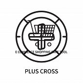Plus Cross Icon Isolated On White Background. Plus Cross Icon Simple Sign. Plus Cross Icon Trendy An poster