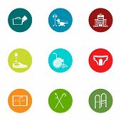 Therapist Icons Set. Flat Set Of 9 Therapist Icons For Web Isolated On White Background poster