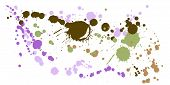Paint Stains Grunge Background Vector. Hand Drawn Ink Splatter, Spray Blots, Dirt Spot Elements, Wal poster