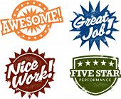 Awesome Work Award Stamps