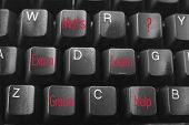 image of online education  - Online Learning Concept with Computer  Keyboard Close Up - JPG